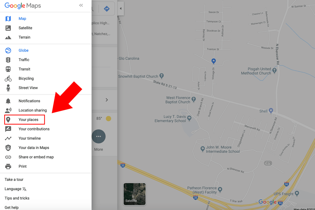How to navigate to your places in Google Maps